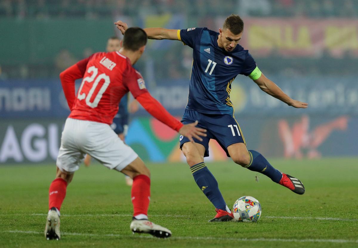 Сборная Боснии и Герцеговины с ее лидером Эдином Джекопробилась в дивизион А Лиги наций / REUTERS