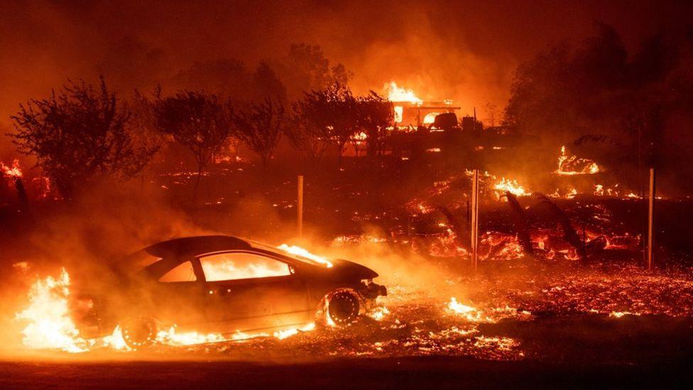 Лесные пожары в Калифорнии / BBC.com