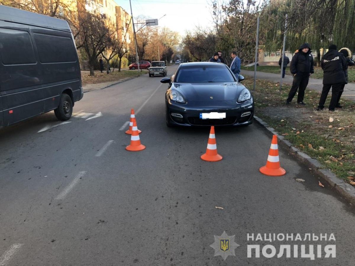 На Закарпатье Porsche наехал на ребенка / Отдел коммуникации полиции Закарпатской области