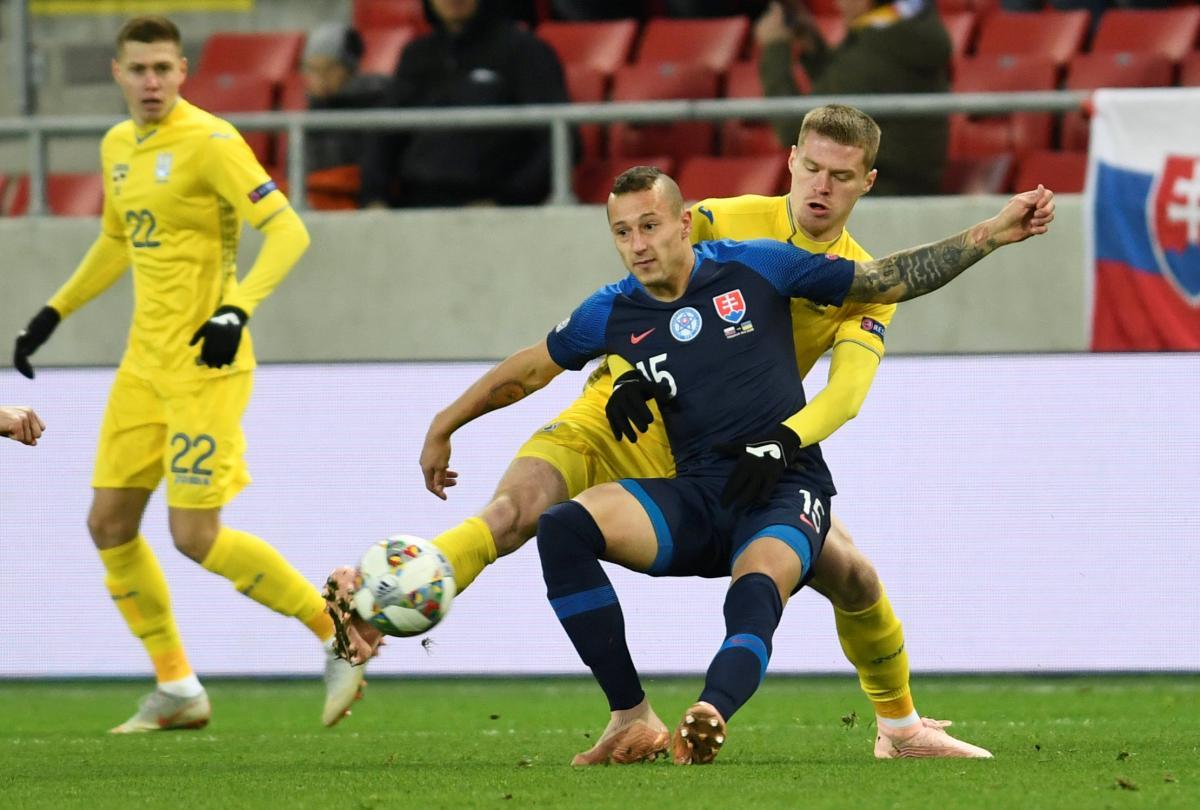 Сборная Украины проиграла Словакии в матче Лиги наций / Reuters