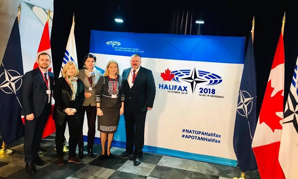 Украинская делегация начинает работу на осенней сессии ПА НАТО / фото facebook.com/Iryna.Friz