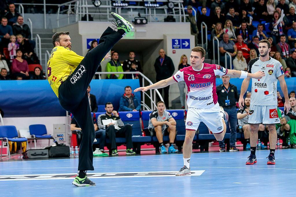 Мотор покорил Нант в матче гандбольной Лиги чемпионов / handball.motorsich.com