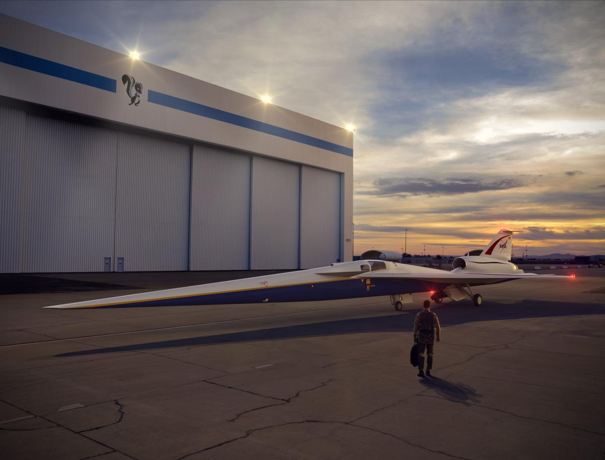 Перспективный пассажирский самолет на базе X-59 должен будет выполнять крейсерские полеты на скорости в 1,5 тысячи километров в час /фото lockheedmartin.com