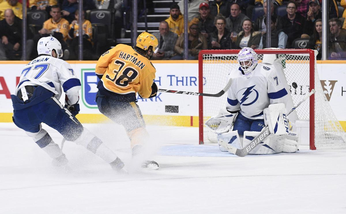 Нешвилл обыграл Тампу в матче лидеров НХЛ / Reuters