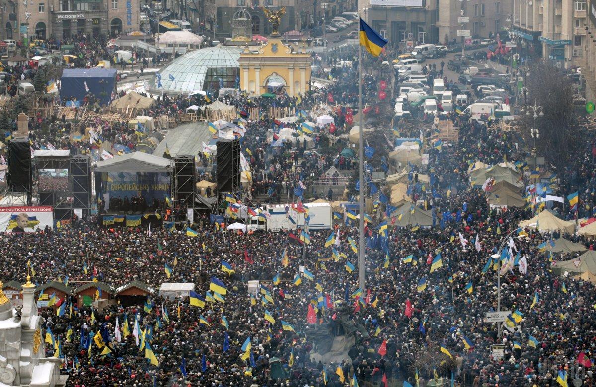 Учасники Революції гідності зайняли Майдан Незалежності / фото УНІАН