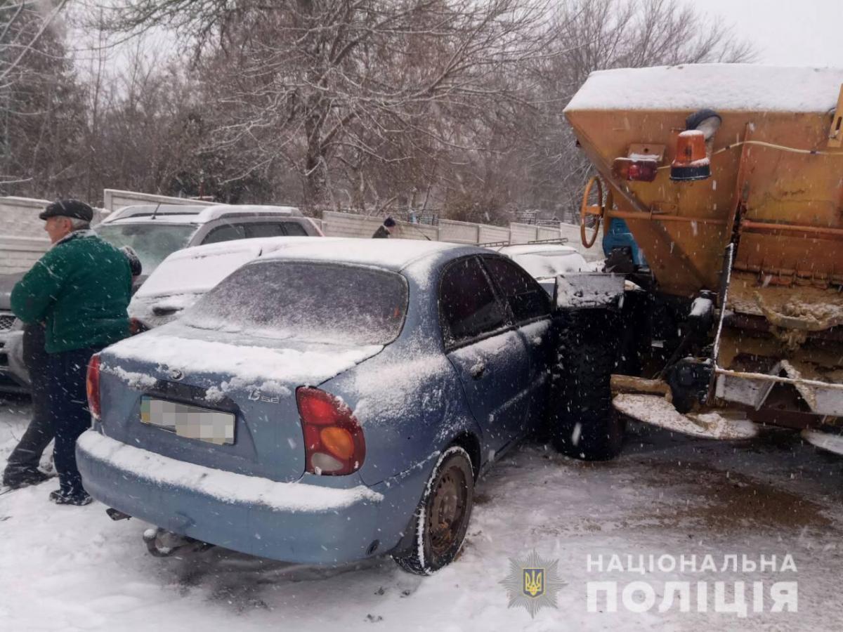 Автомобили получили механические повреждения / фото Нацполиция
