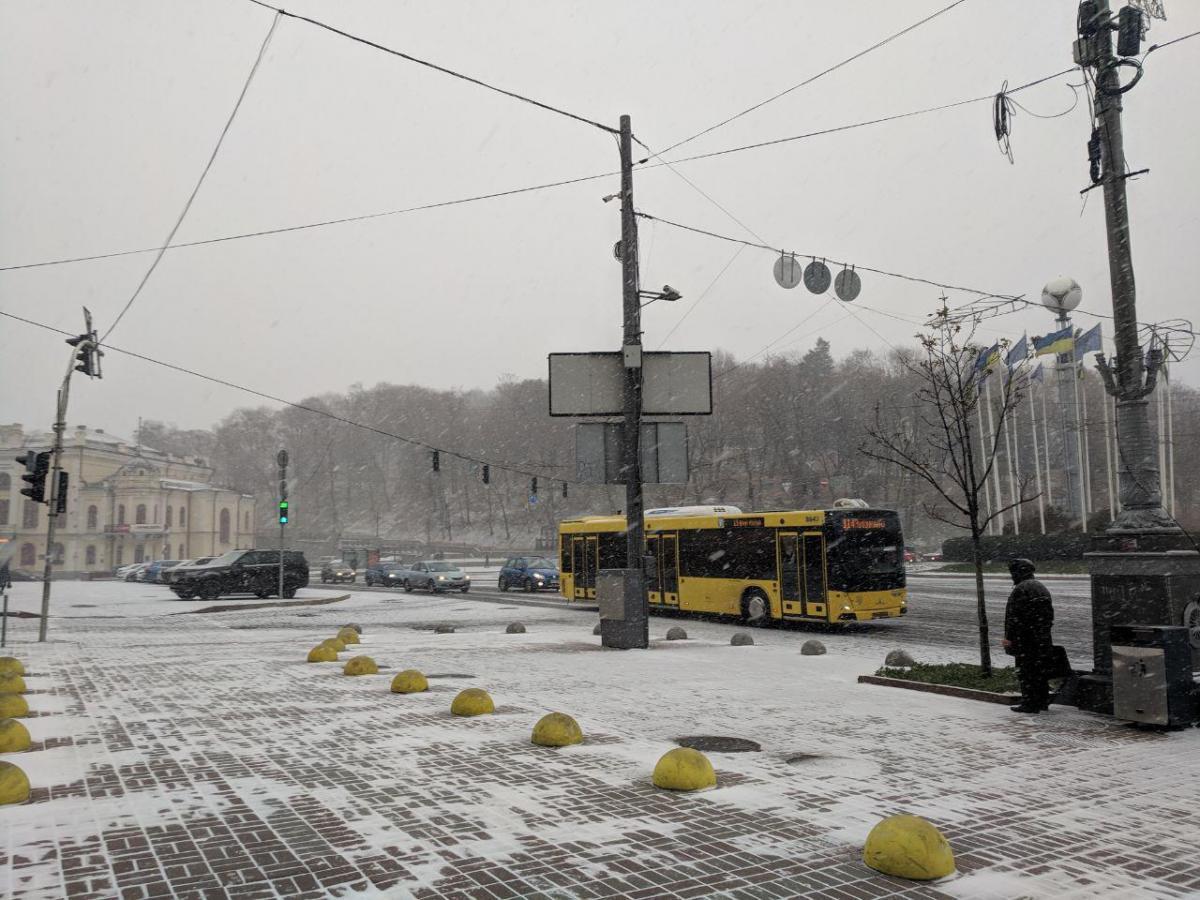 У Києві сьогодні пройде сніг / фото УНІАН