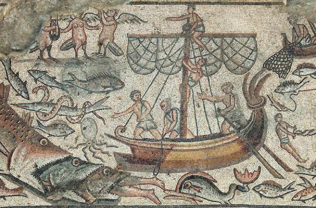 На одній із мозаїк зображений сюжет про Іону та кита / N+1