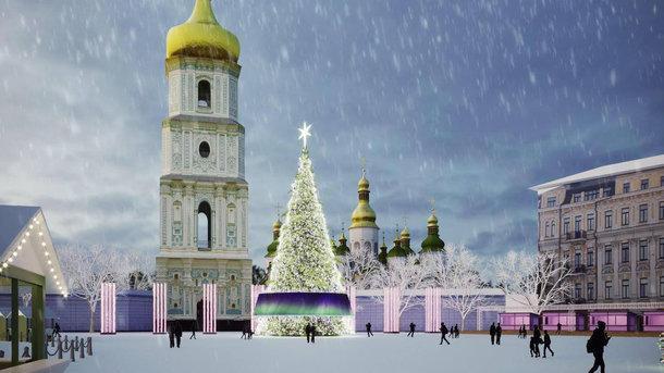 Цього року новорічна ялинка на Софійській площі може бути штучною / фото Ukraine Folk