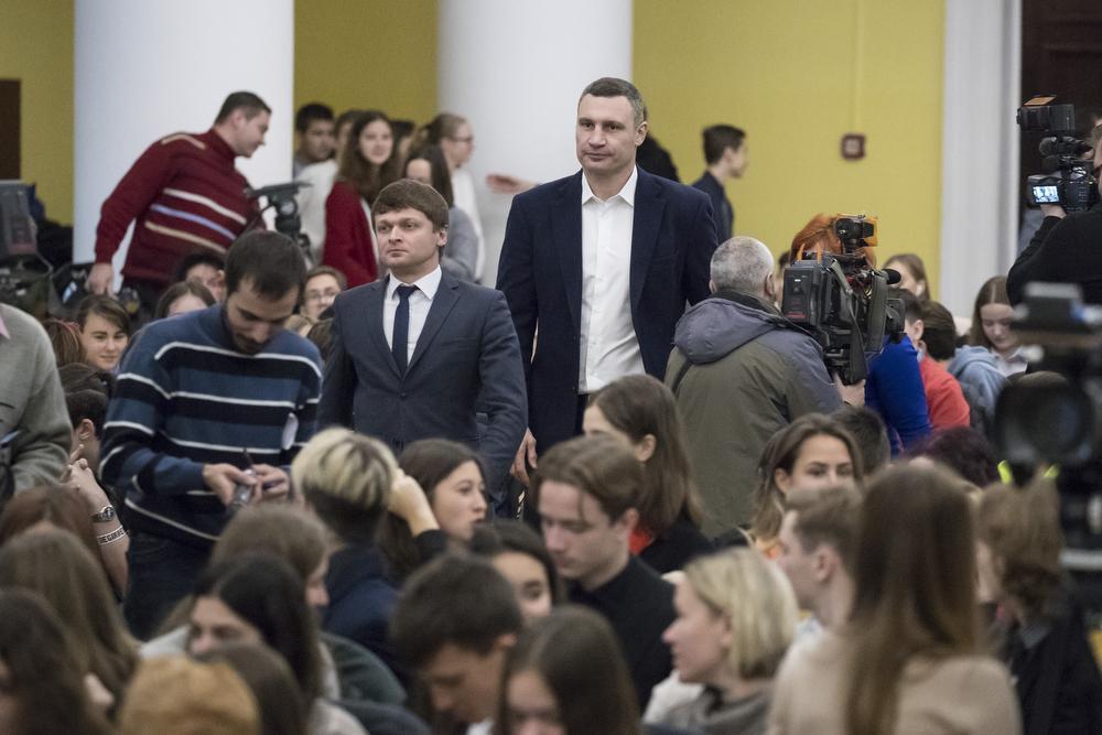 Кличко дал старт Первому чемпионату по английскому языку среди столичных школ / фото kiev.klichko.org