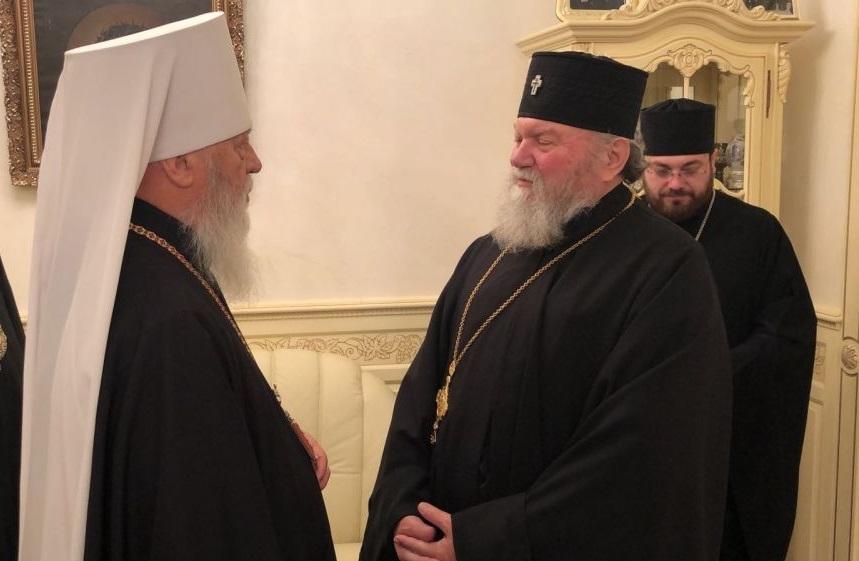 Архиепископ Пражских и Чешских земель (справа) прибыл в Одессу/ eparhiya.od.ua
