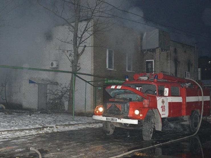В Днепре произошел масштабный пожар в кафе / фото ГСЧС Украины в Днепропетровской области