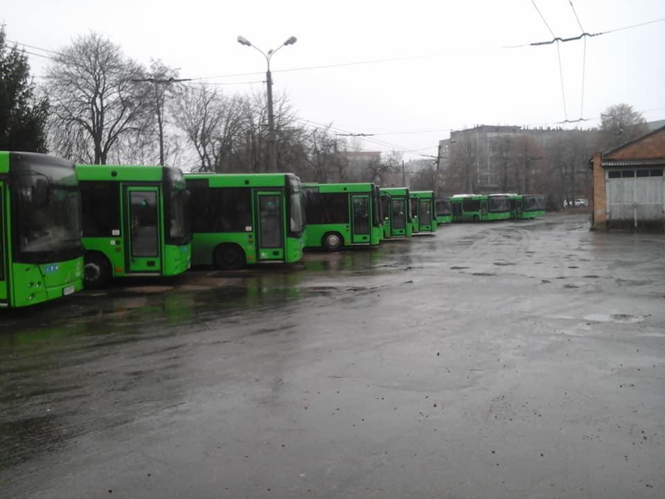 В Житомирена маршруты не вышли коммунальные автобусы / фото facebook/roman.musijchuk