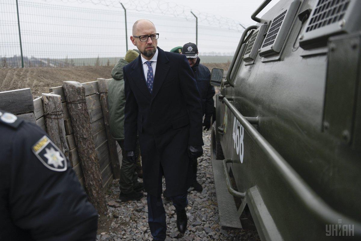 Яценюк отметил, что обустройство участка государственной границы вполне соответствует европейскому уровню / фото УНИАН