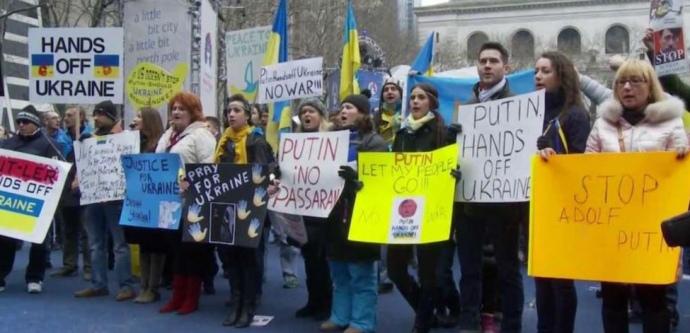 Акция в поддержку Украины возле штаб-квартиры ООН / ФОТО: MARYNA PRYKHODKO (CURTESY PHOTO)