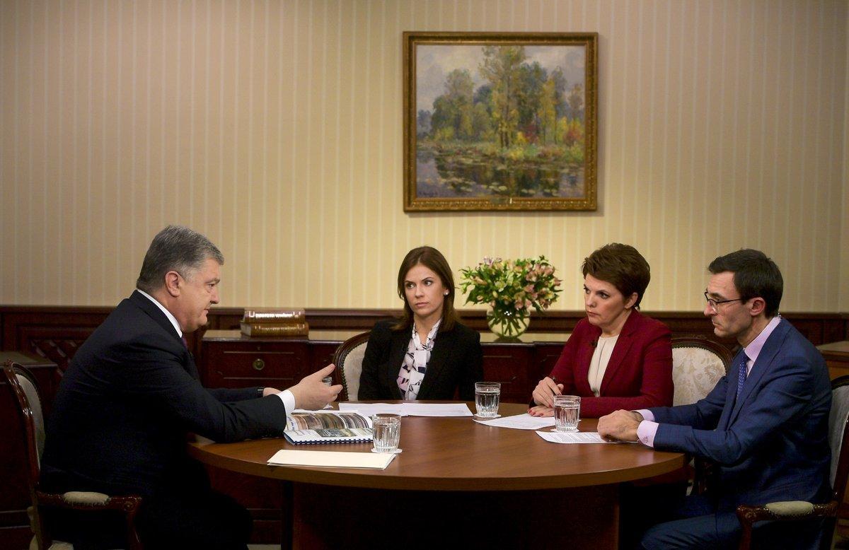 Meeting with TV journalists / Petro Poroshenko's Twitter account