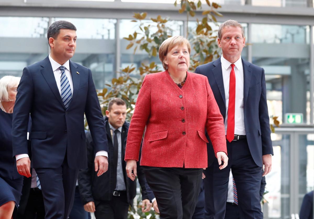 Володимир Гройсман та Ангела Меркель / REUTERS