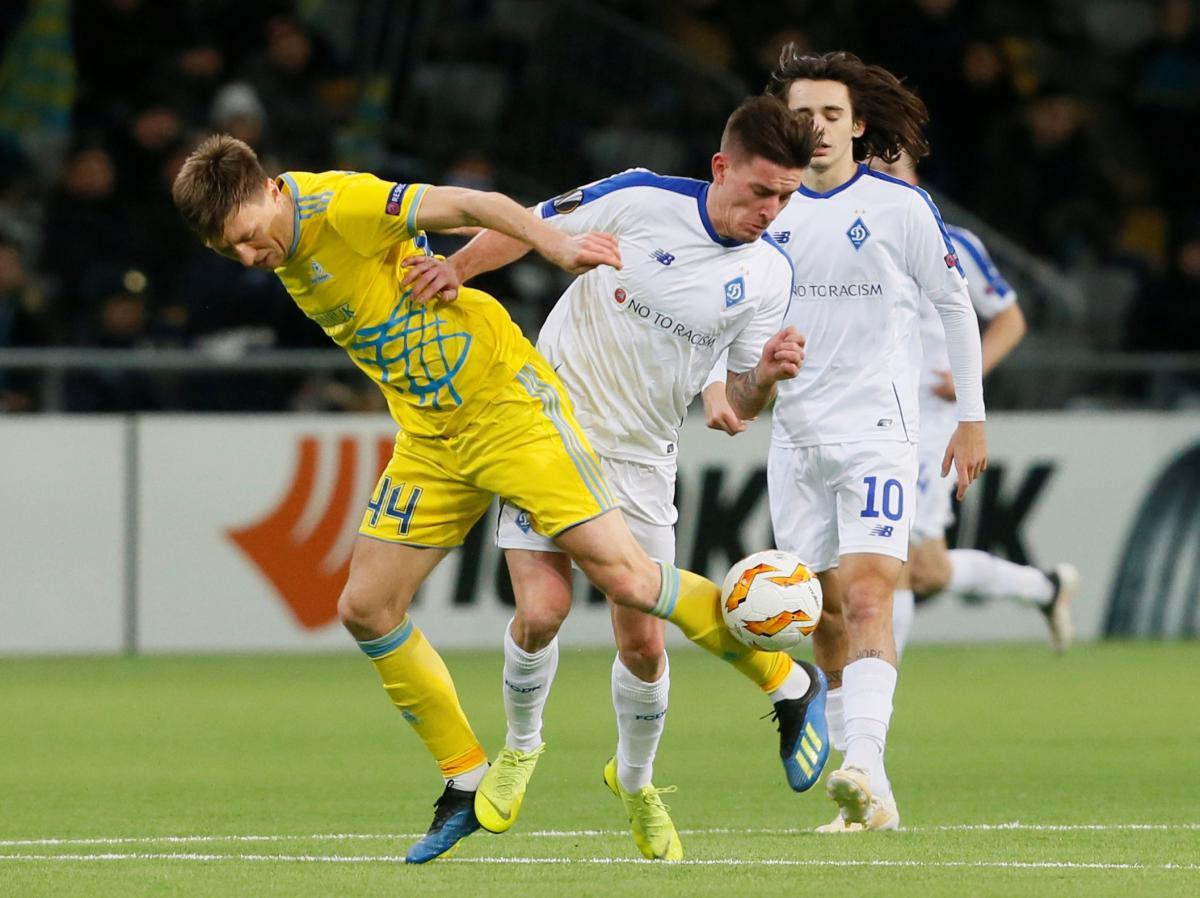 Динамо обыграло Астану в матче Лиги Европы / Reuters