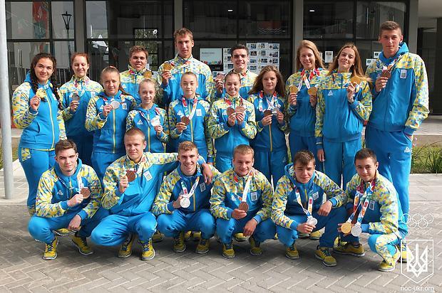 Украинские медалисты Юношеской Олимпиады получат около миллиона гривен / noc-ukr.org