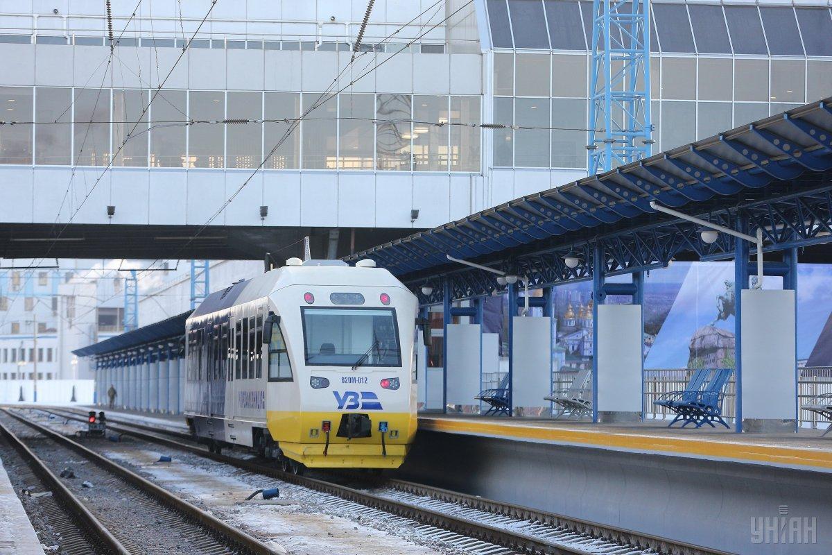 Уже второй раз с момента запуска в пути заглох экспресс-поезд Kyiv Boryspil Express / Фото УНИАН