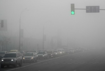 Синоптики попередили киян про сильний туман та низьку видимість на дорогах