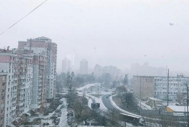 У Києві випав перший сніг (фото)