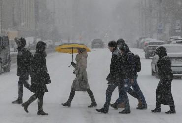 У Києві завтра очікується снігопад, температура до +1°