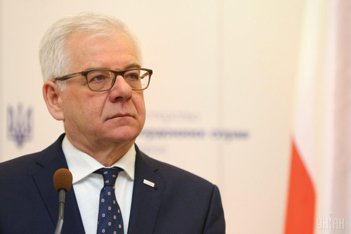 Poland's Minister of Foreign Affairs Jacek Czaputowicz / Photo from UNIAN