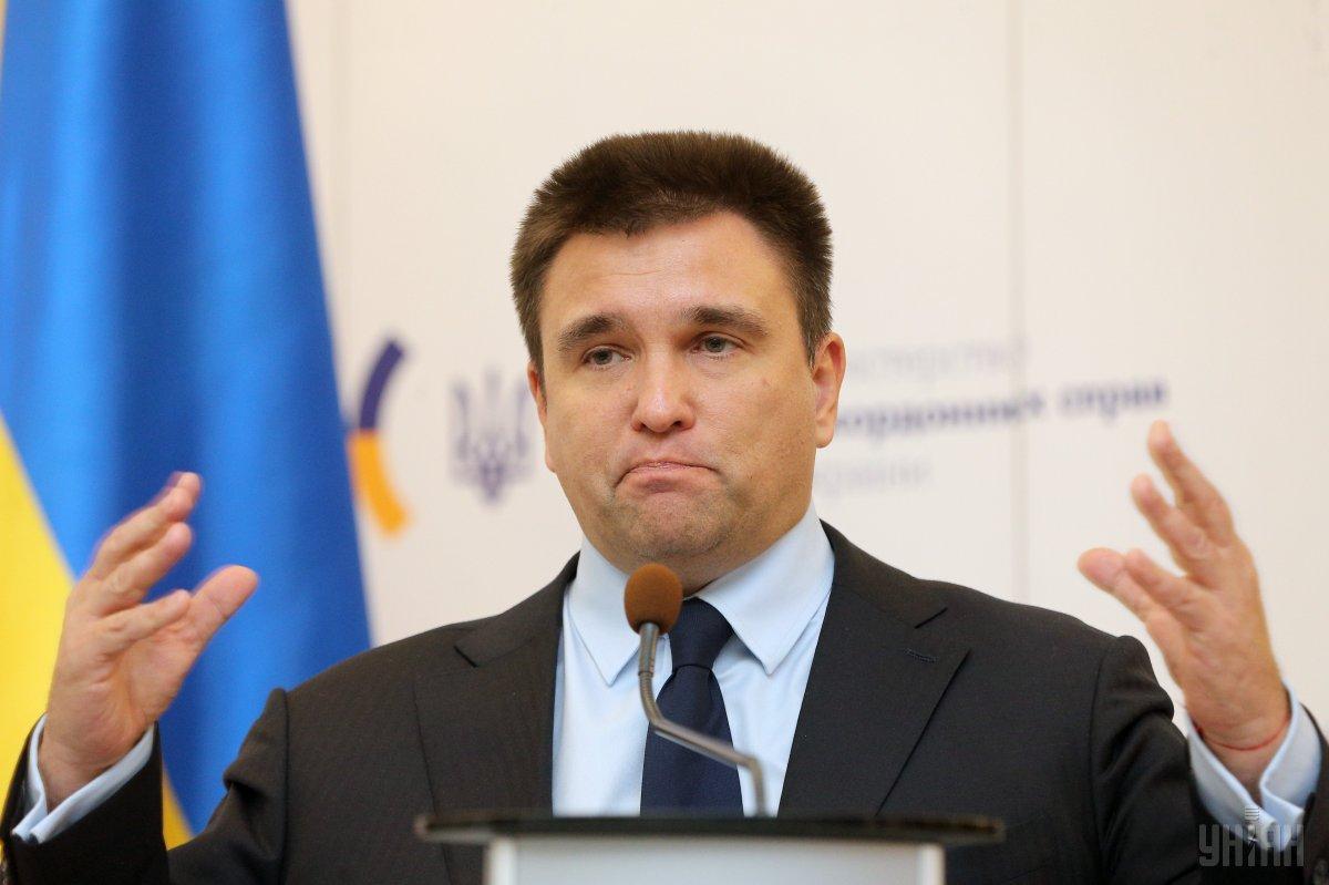 Клімкін уточнив свої плани після відставки / УНІАН