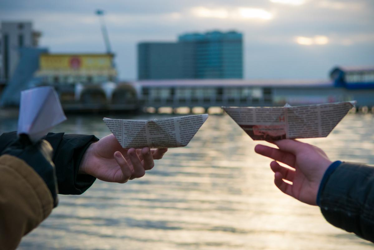 Акция в поддержку захваченных РФ украинских моряков / фото Роман Цимбалюк, УНІАН