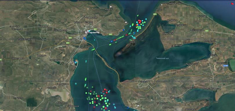 Росія блокує рух через Керченську протоку / фото facebook.com/MinistryforTOTandIDPs