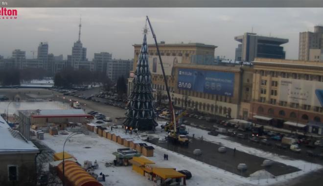 Загальна висота символу Нового року склала понад 40 метрів / скріншот відеозапису Velton, newsroom.kh.ua