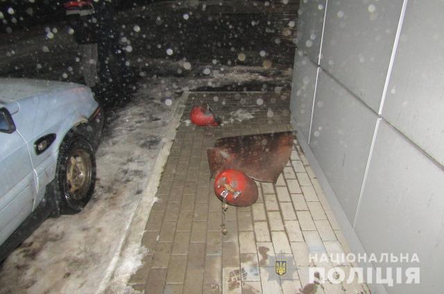 Під час заправки газом автомобілявибухнув балон газової установки / фото kv.npu.gov.ua