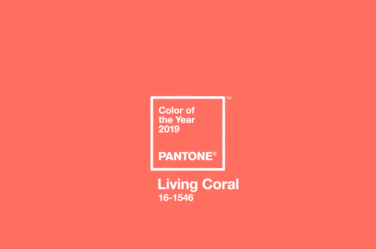 Колір року-2019 за версією Pantone - Living Coral / Pantone