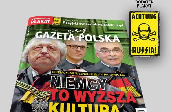 """Польская газета выпустила плакат с Путиным в стиле знака """"Циклона Б"""" / twitter.com/GPtygodnik"""