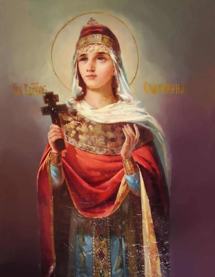 В День святой Катерины у ее иконы принято ставить три свечи / фото restavratsya-xl.ru
