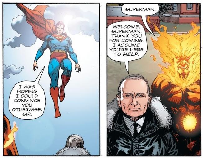 У коміксі Путін виступає на Червоній площі / скріншот