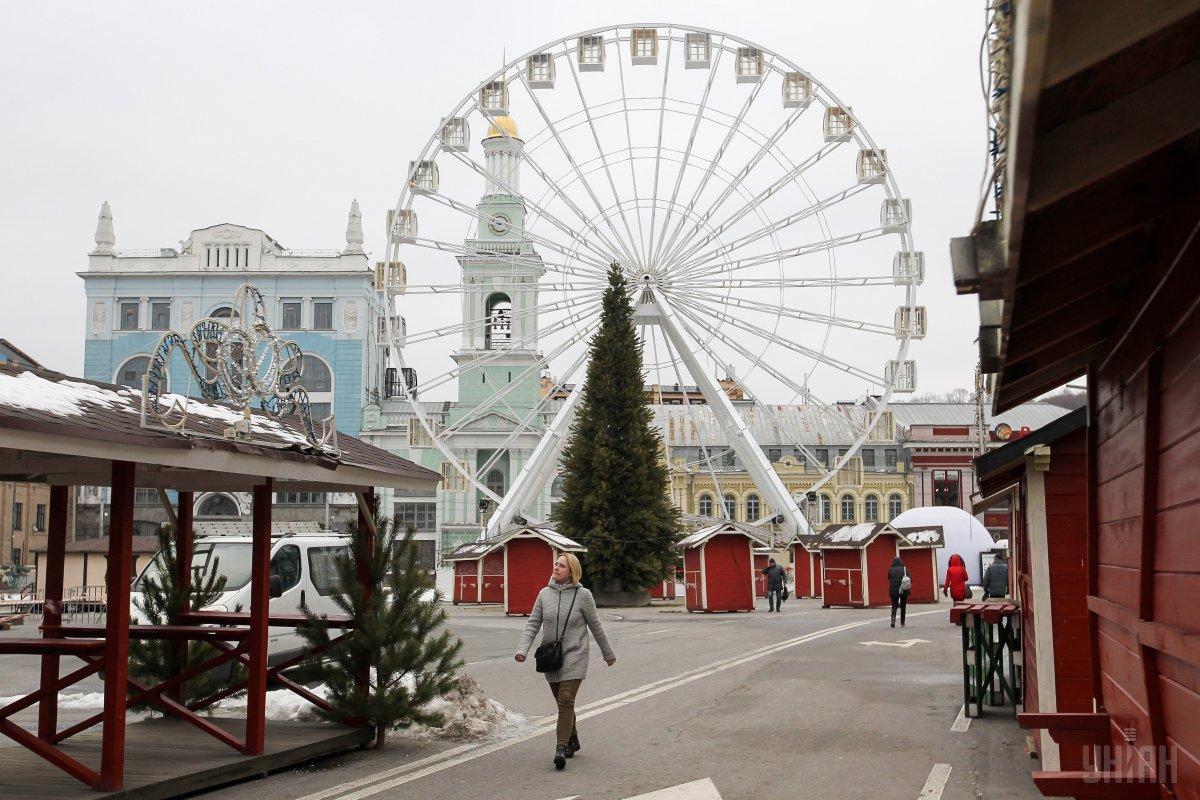 Різдвяне містечко на Контрактовій площі - одне з найулюбленіших серед киян / Фото УНІАН