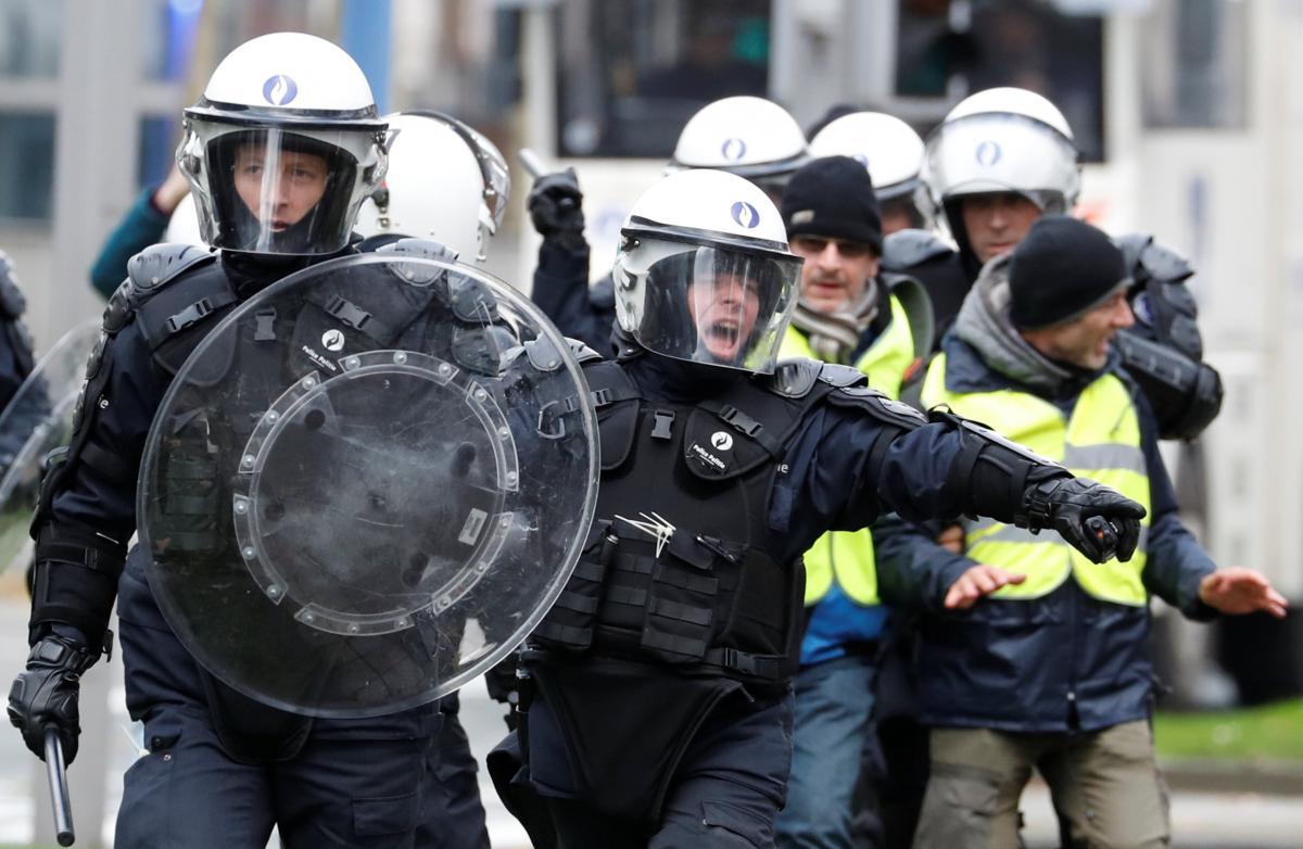 Протесты в Бельгии / REUTERS