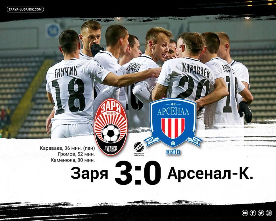 Заря предсказуемо разгромила Арсенал в матче Премьер-лиги / facebook.com/FCZoryaLuhansk