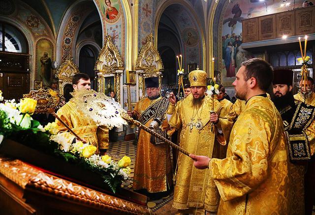 В Ізюмській єпархії УПЦ перебувають мощі святих / izum.church.ua