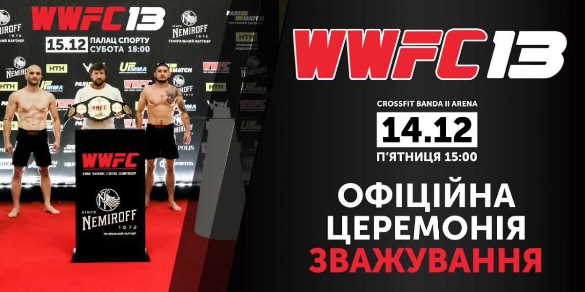 У Києві пройде церемонія зважування турніру WWFC / wwfc.in.ua