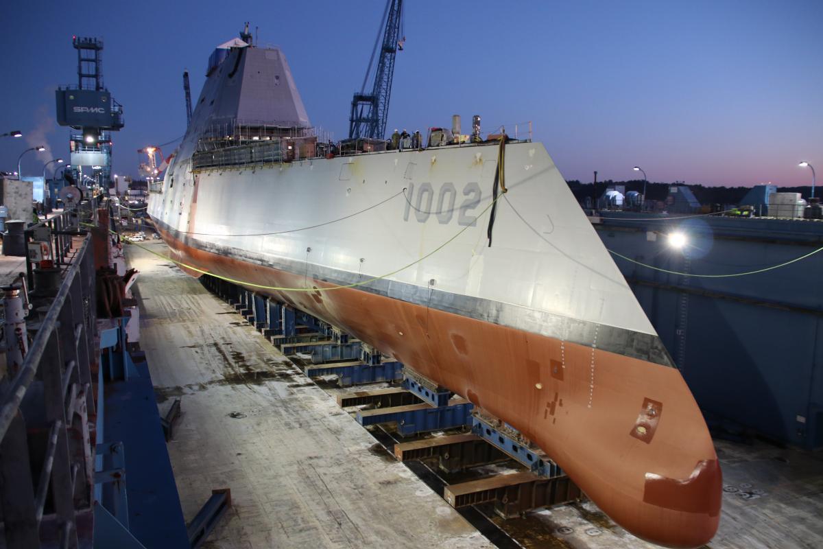 """Військово-морський флот США отримав третій стелс-есмінець - """"Ліндон Джонсон"""" / фото navy.mil"""