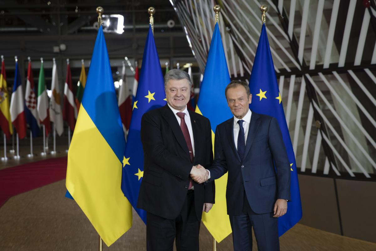 Poroshenko and Tusk in Brussels / Photo from president.gov.ua