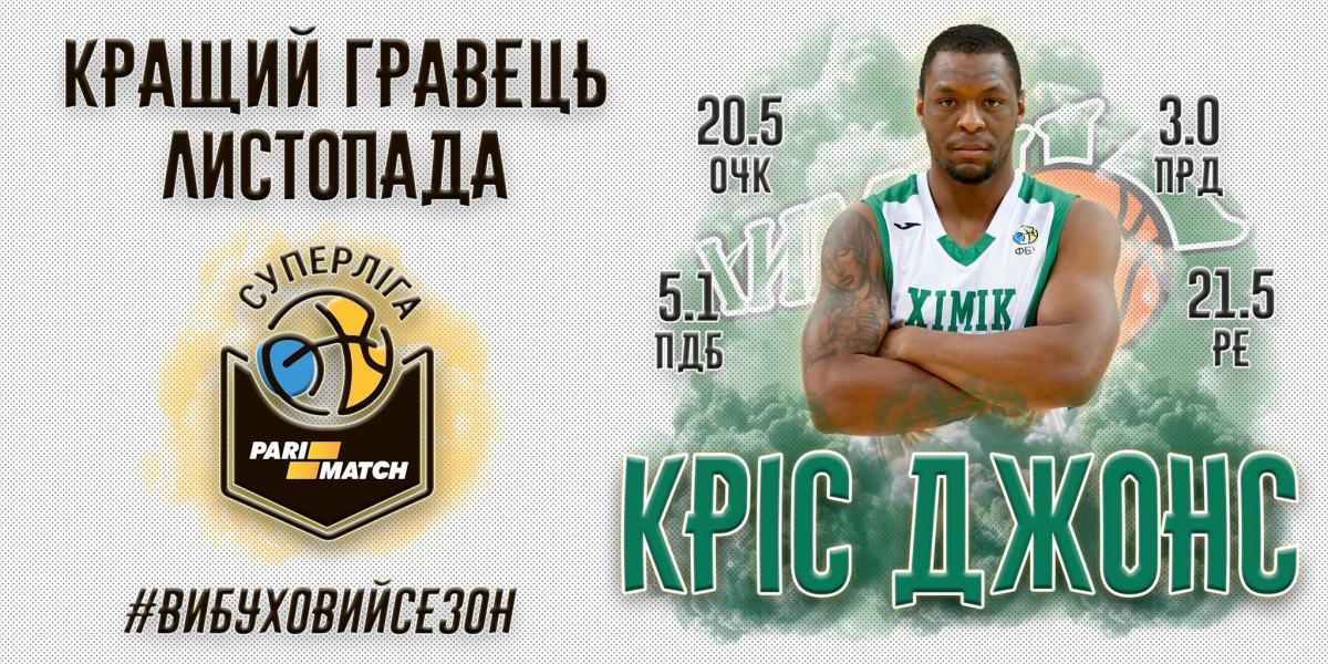 Джонс признан лучшим игроком месяца в Суперлиге / fbu.kiev.ua