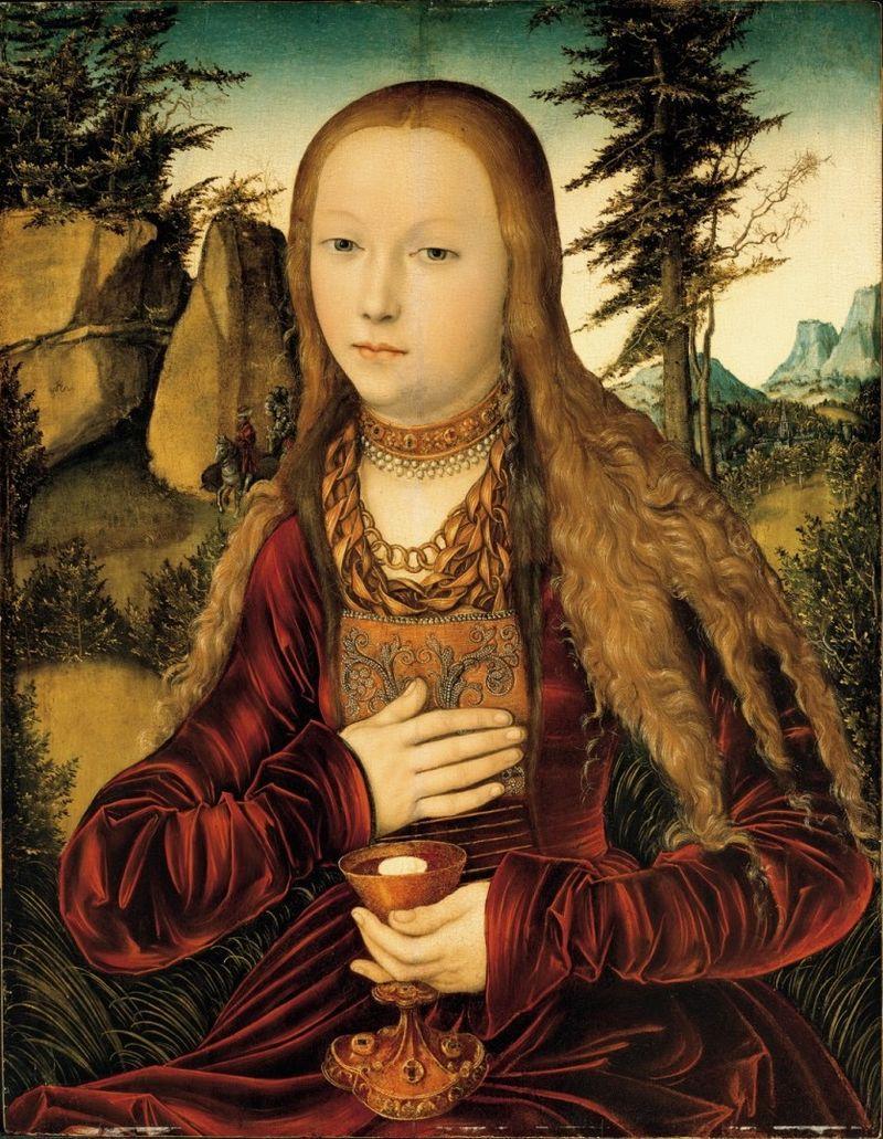 Википедия - Lucas Cranach d.Ä. - Die heilige Barbara in einer bewaldeten Landschaft