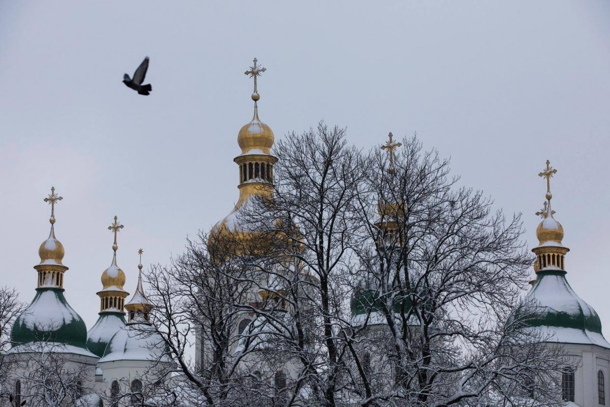 """Верующие встретили известие об избрании предстоятеля громкими возгласами: """"Слава!"""" \ Администрация Президента Украины"""