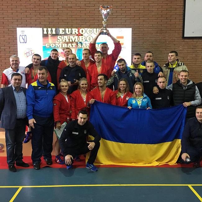 Сборная Украины завоевала 24 медали на Кубке Европы по самбо