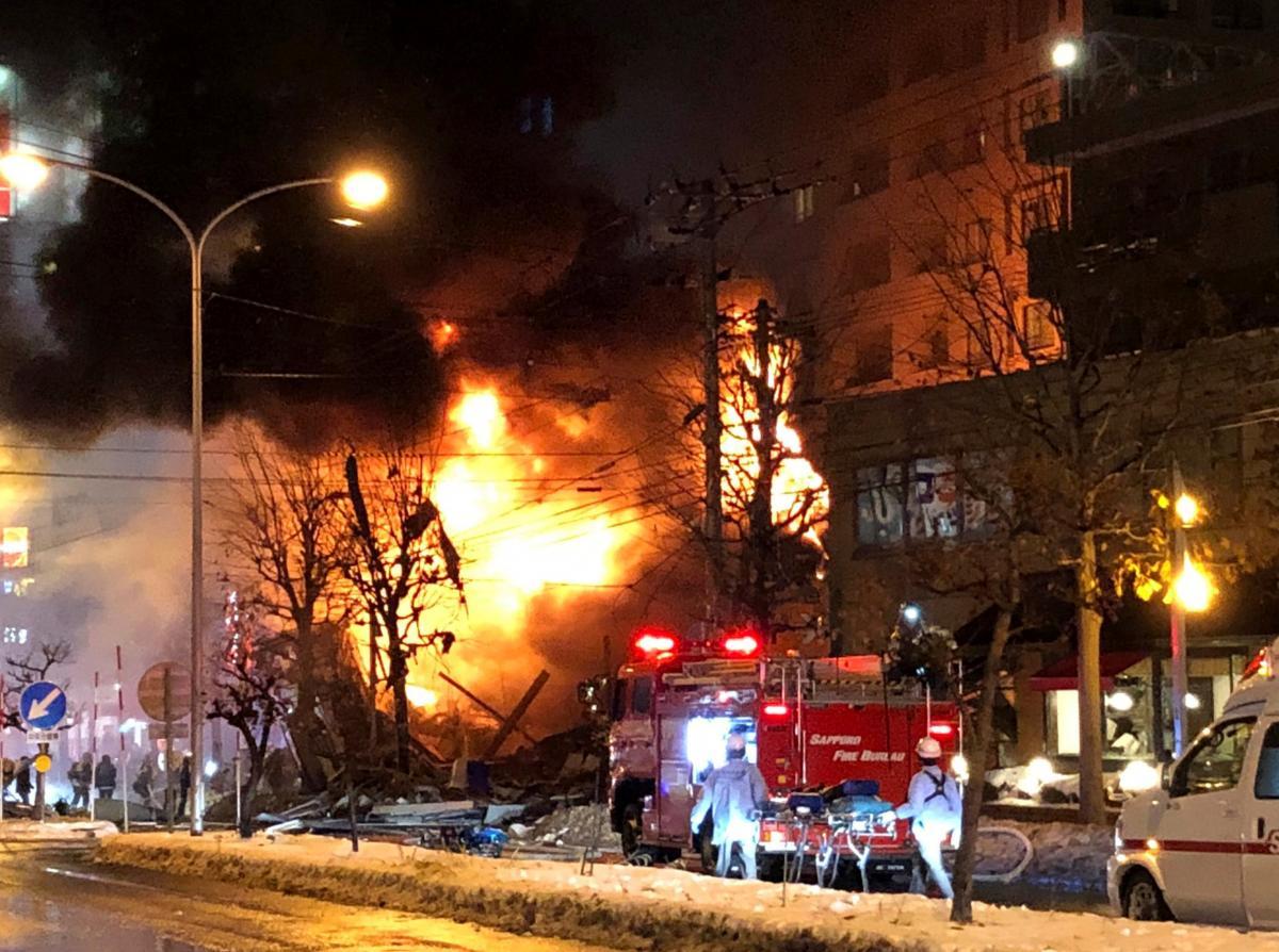 Неменее 40 человек пострадали в итоге взрыва ипожара вяпонском Саппоро