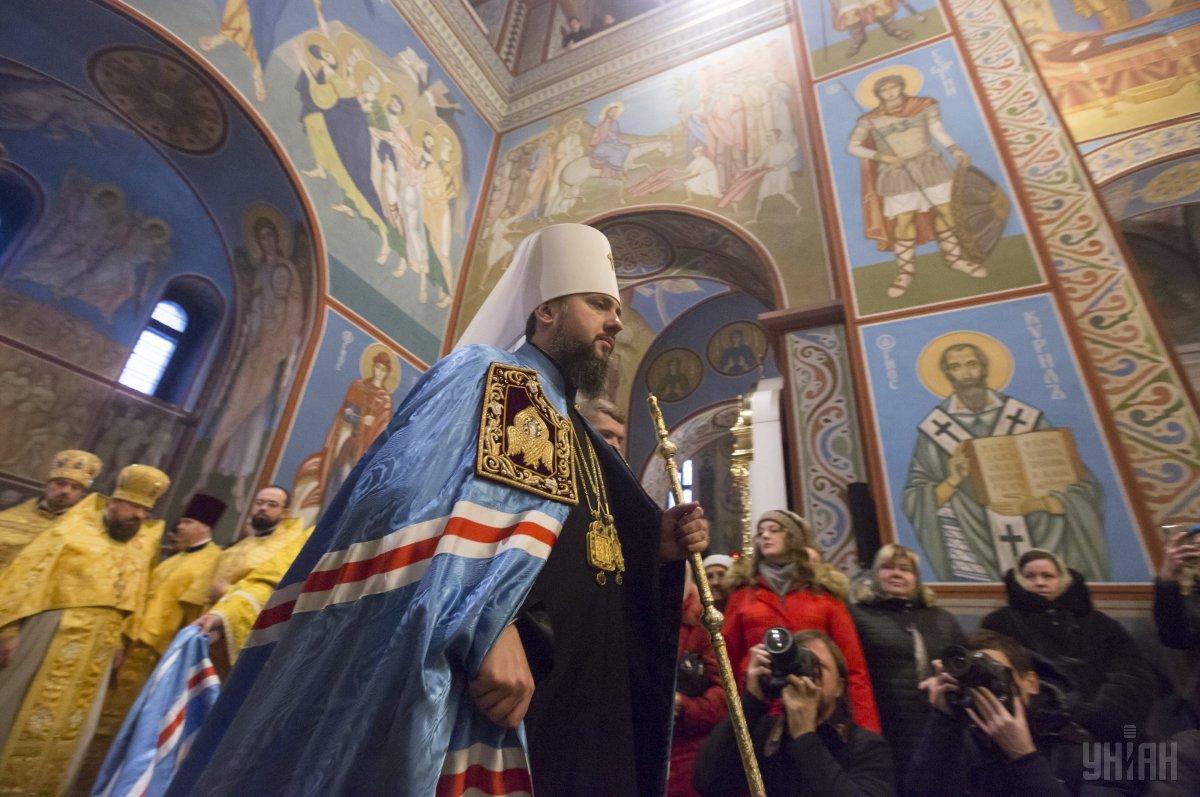 Епифаний отметил, что сейчас поместная церковь насчитывает примерно 7000 приходов в Украине / фото УНИАН
